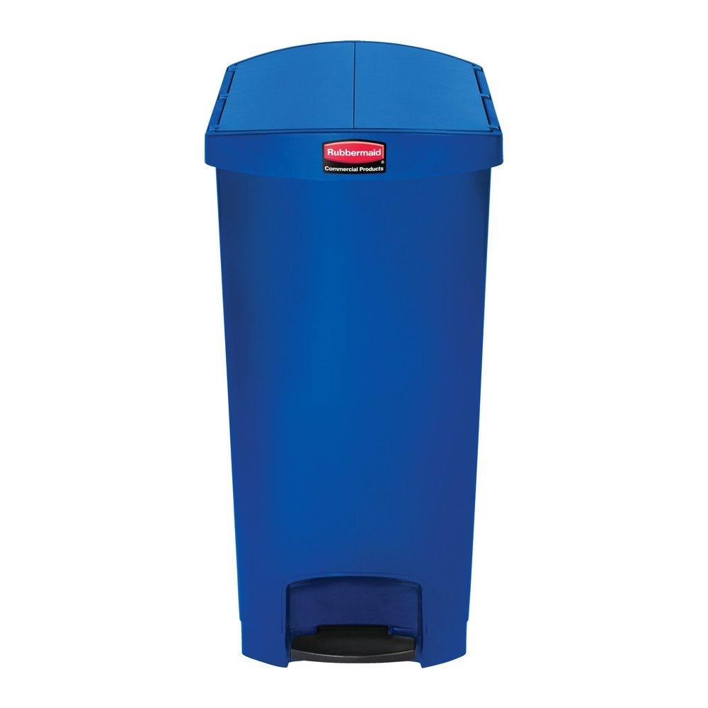 Rubbermaid Slim Jim End Step 90 liter kunststof blauw