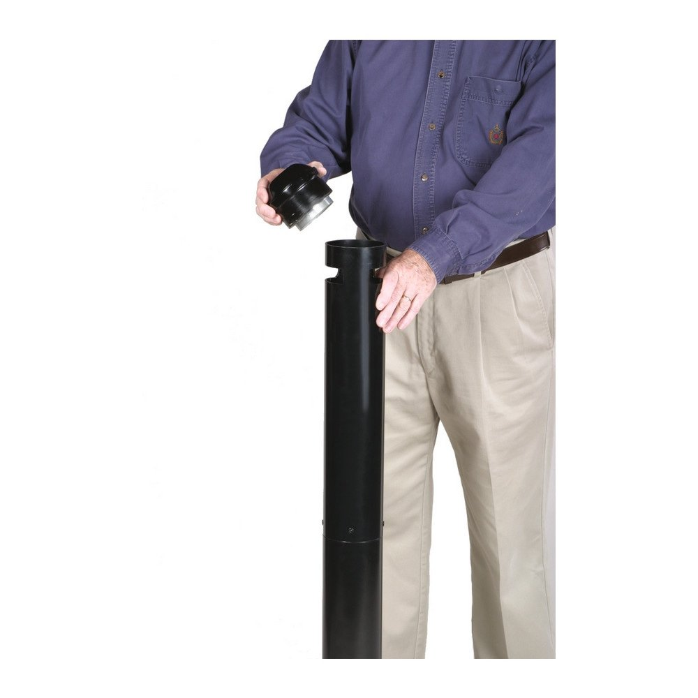 Asbak Rubbermaid Smokers Pole zwart