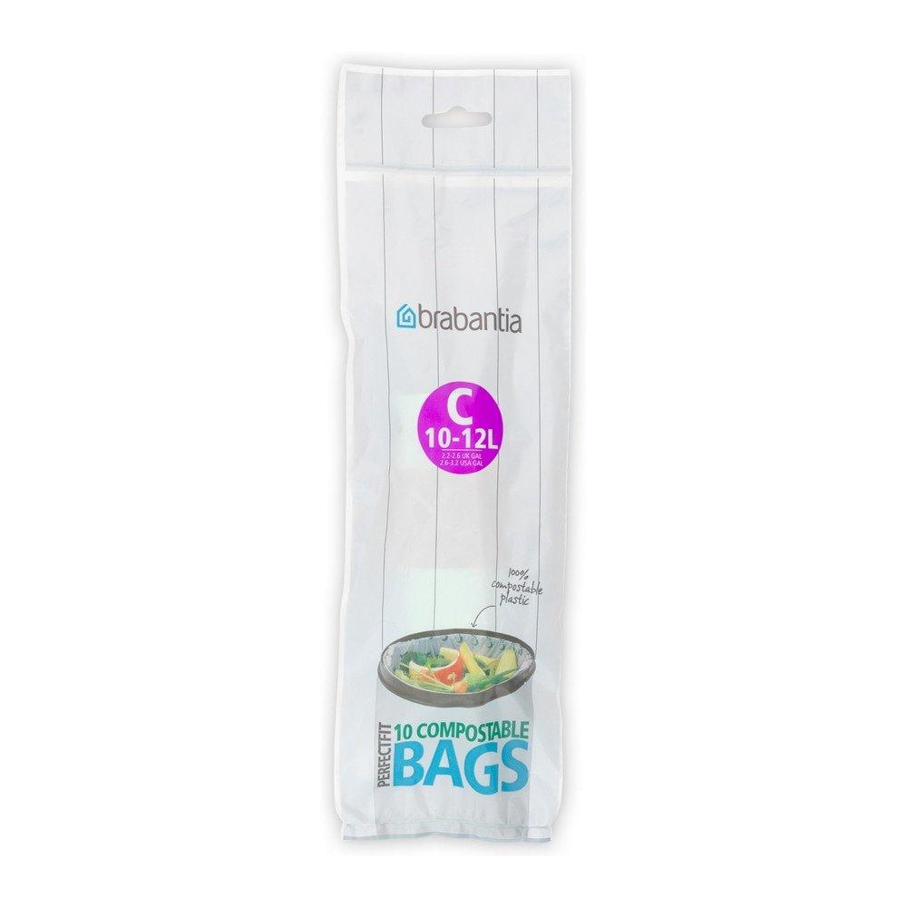 Brabantia Afvalzak ( C) 10-12 liter Composteerbaar 12 x 10 zakken
