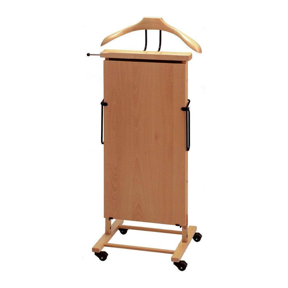 Broekenpers elektrisch naturel hout