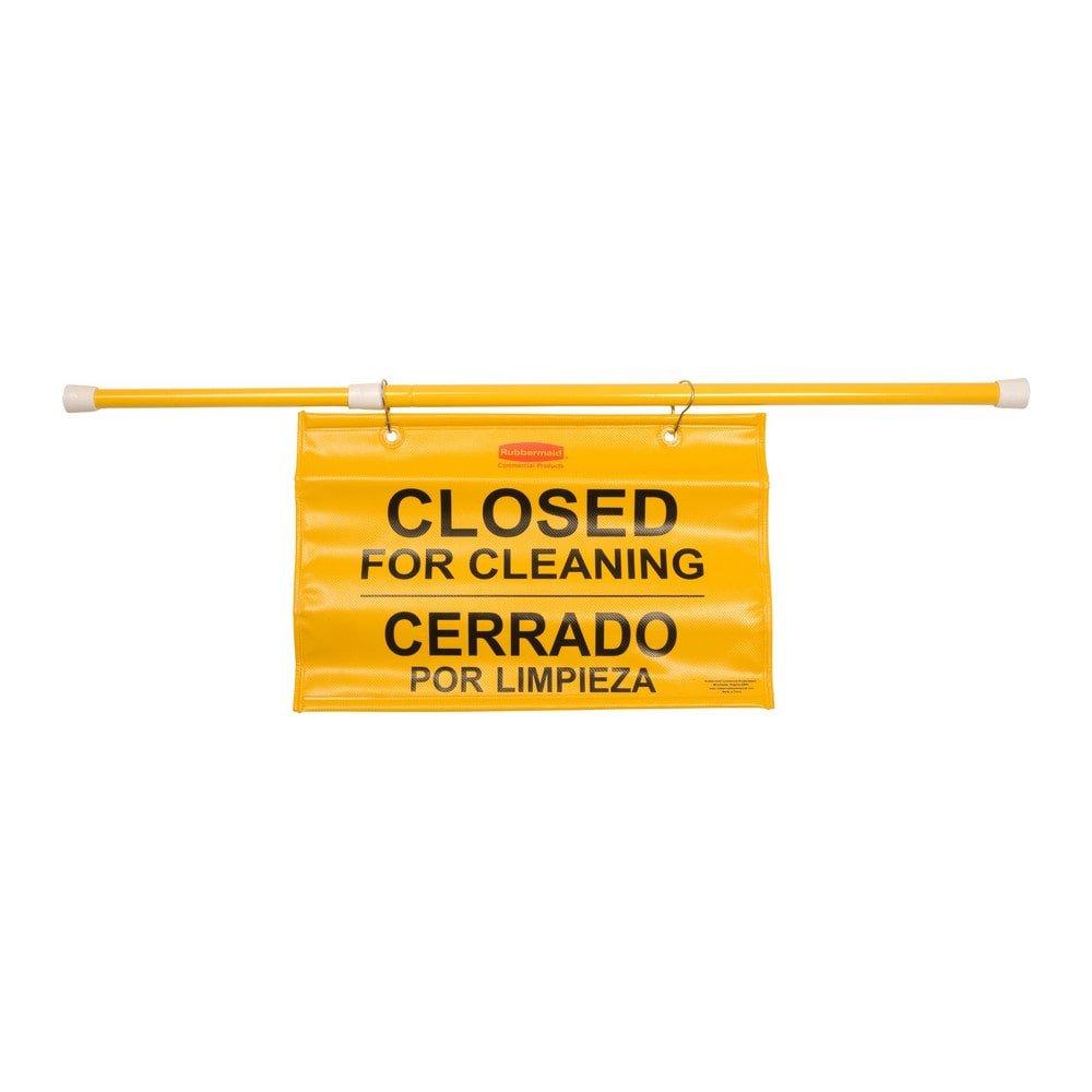 Rubbermaid hangend veiligheids deurbord geel