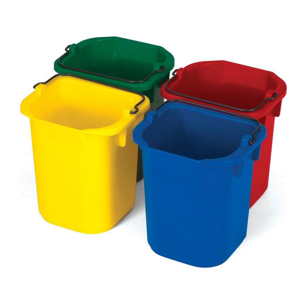 Rubbermaid emmerset 4st. Groen, rood, geel, blauw