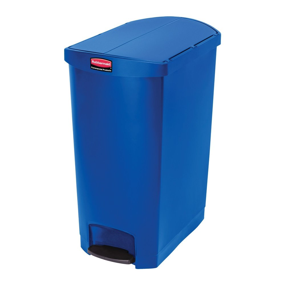 Rubbermaid Slim Jim End Step 90 liter kunststof blauw