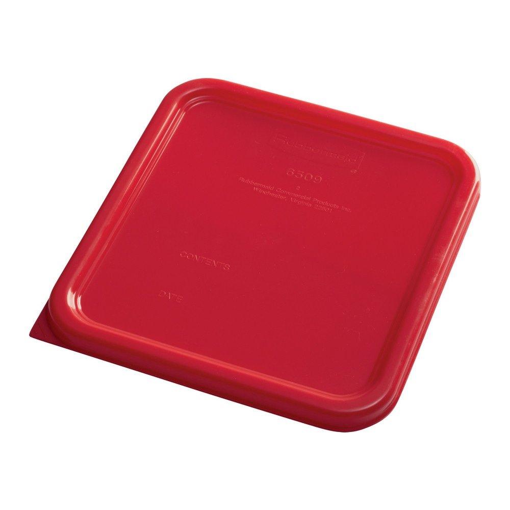 Rubbermaid Deksel vierkant small 6 stuks rood