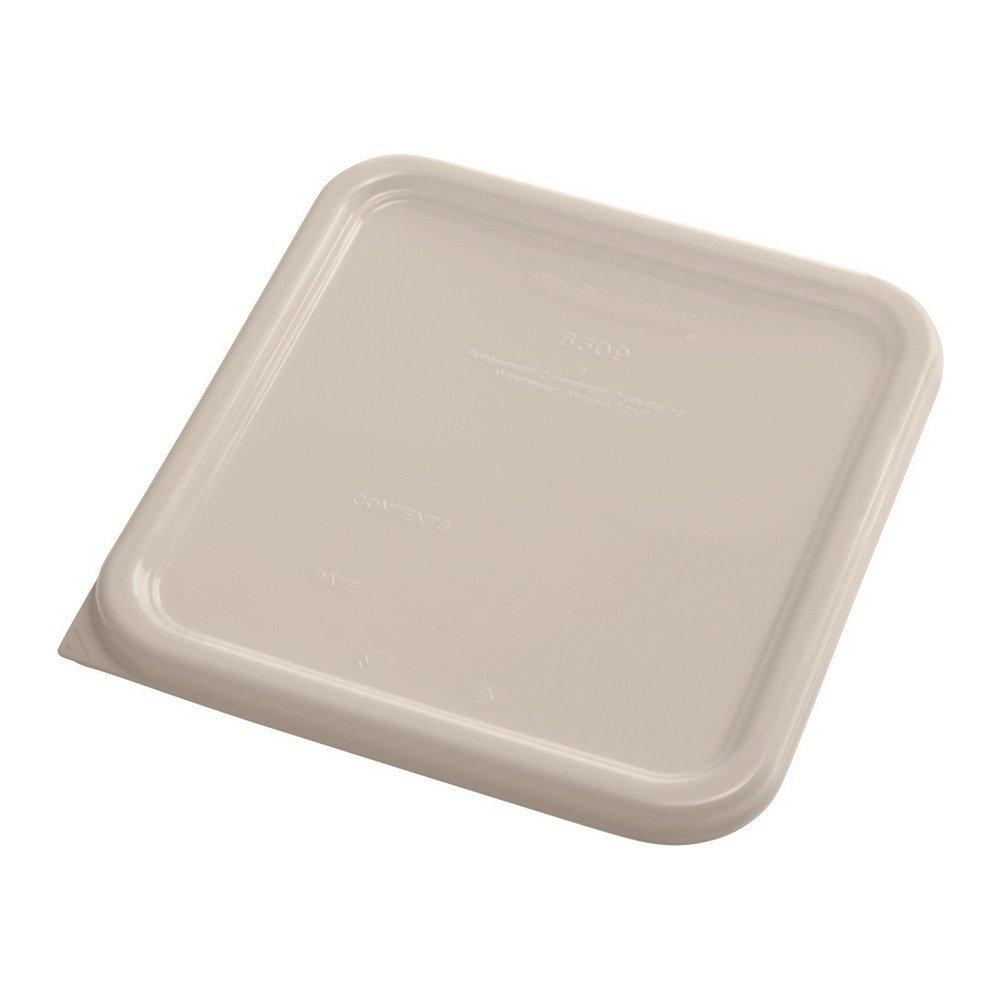 Rubbermaid Deksel vierkant small 6 stuks beige