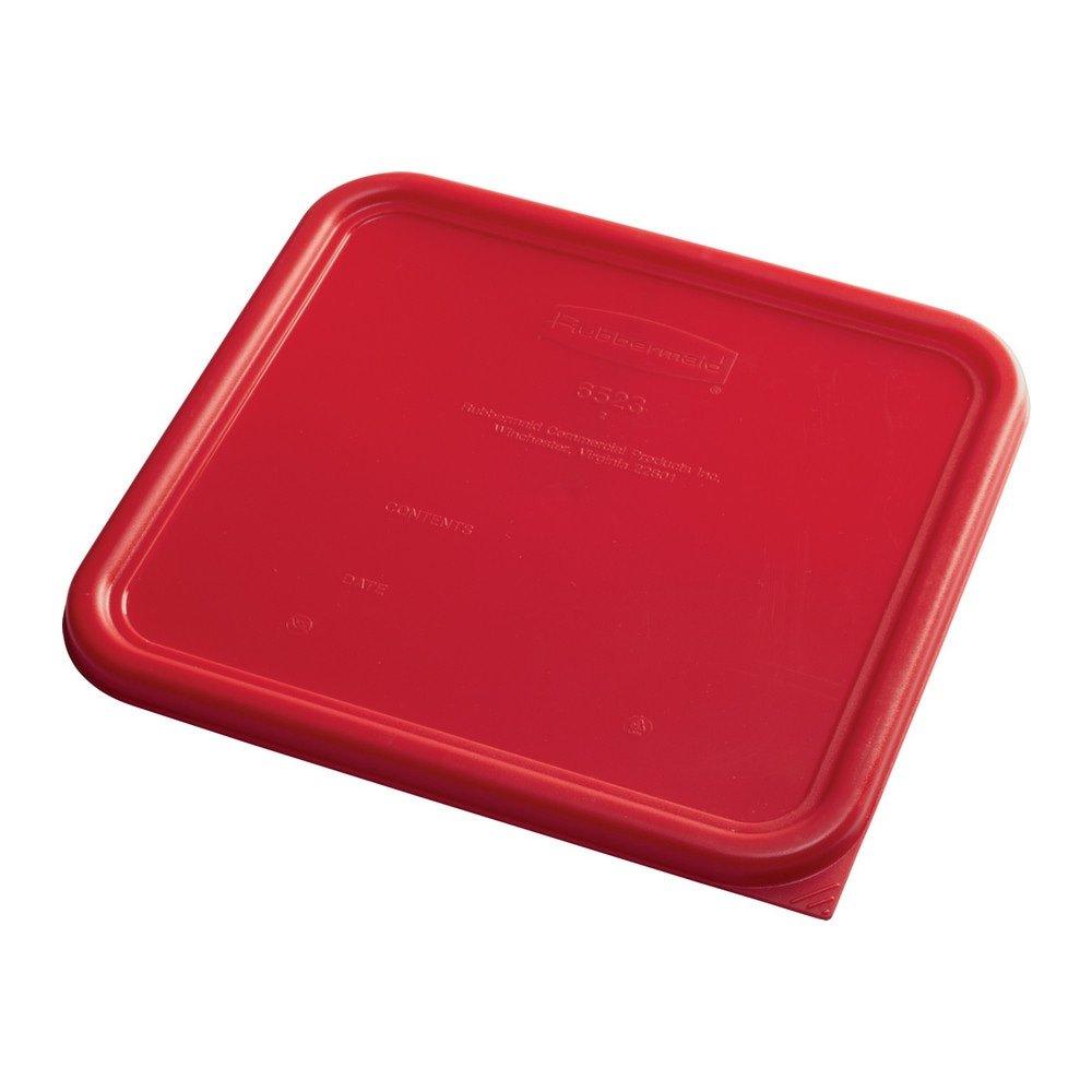Rubbermaid Deksel vierkant large 6 stuks rood