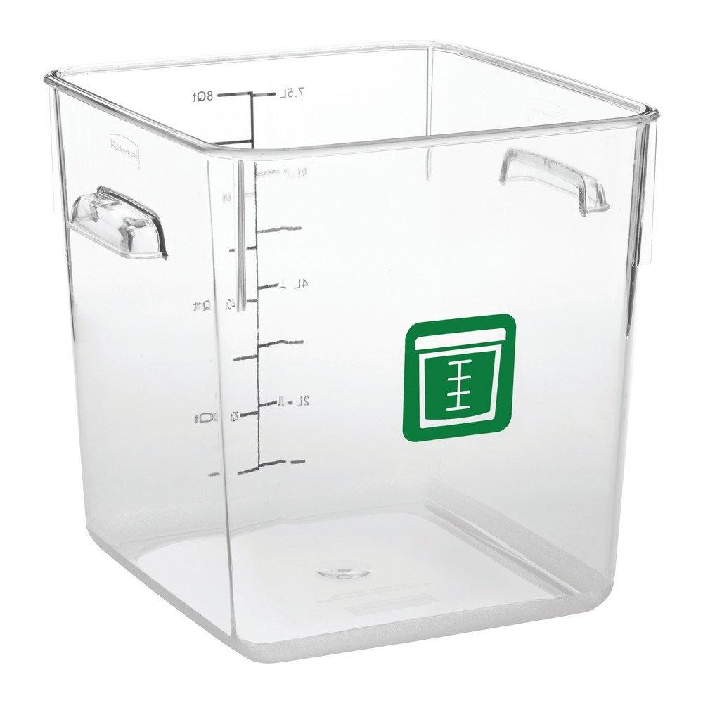 Rubbermaid Vierkante Container 7,6 liter 6 stuks groen