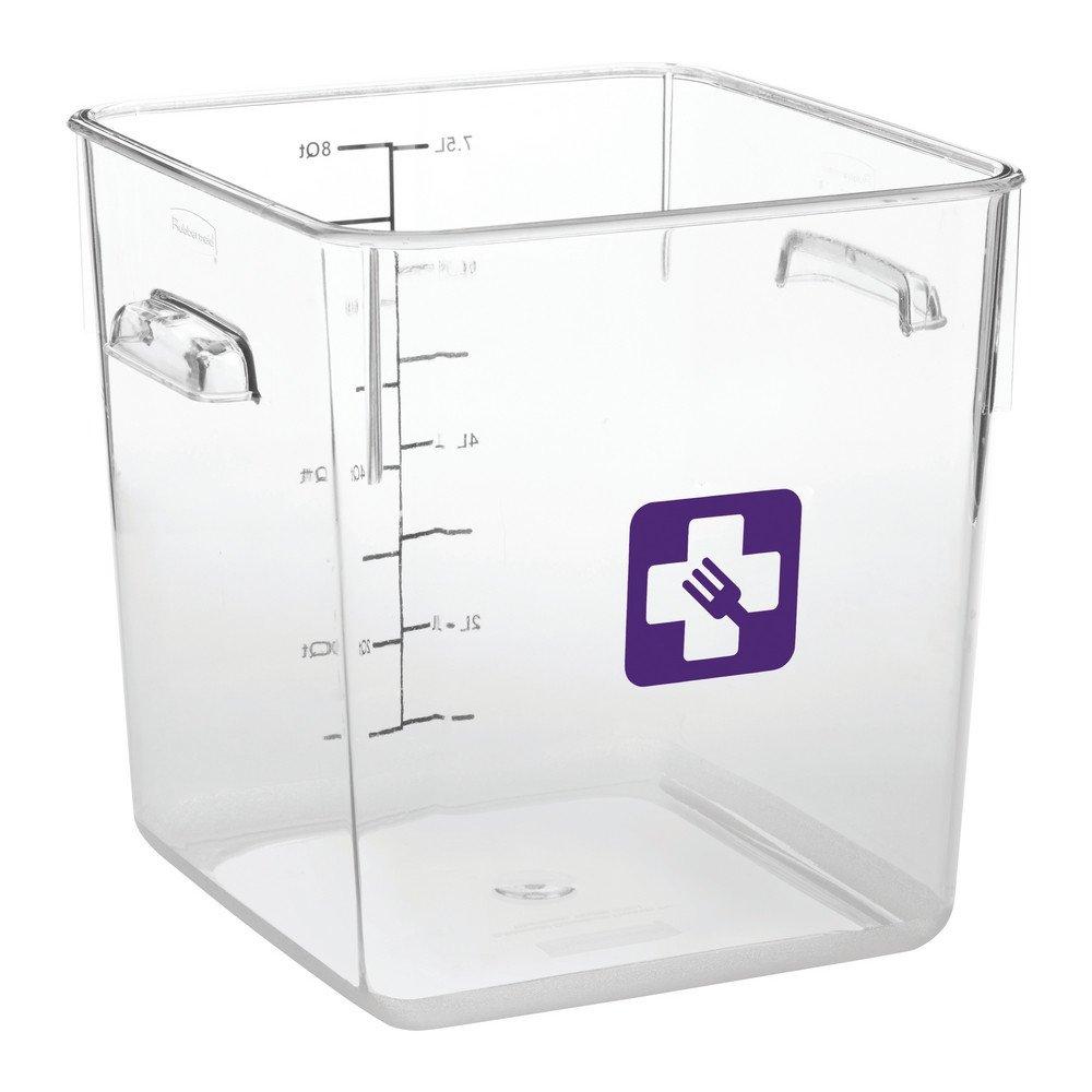 Rubbermaid Vierkante Container 7,6 liter 6 stuks paars