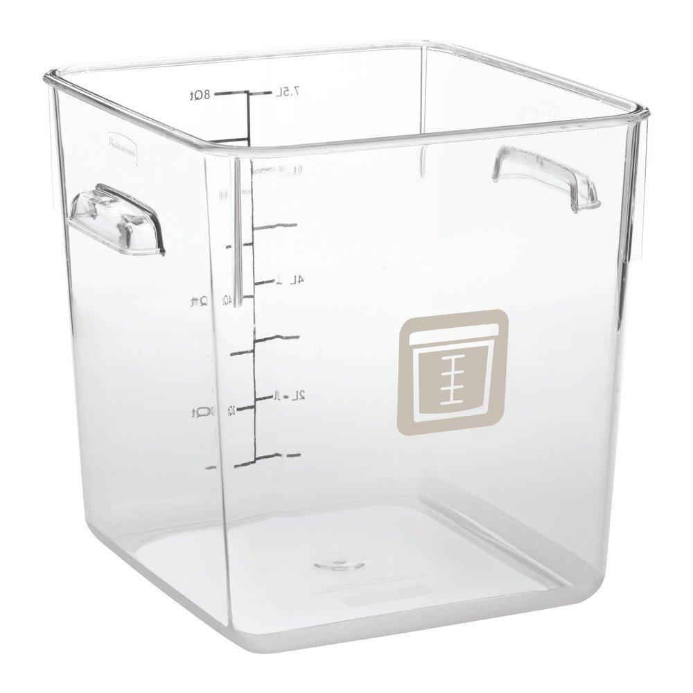 Rubbermaid Vierkante Container 7,6 liter 6 stuks beige