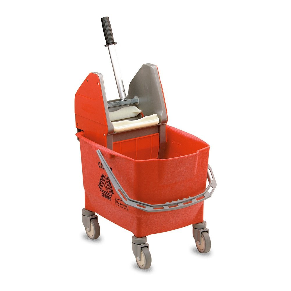 Rubbermaid combo brave rolemmer 25ltr met pers rood