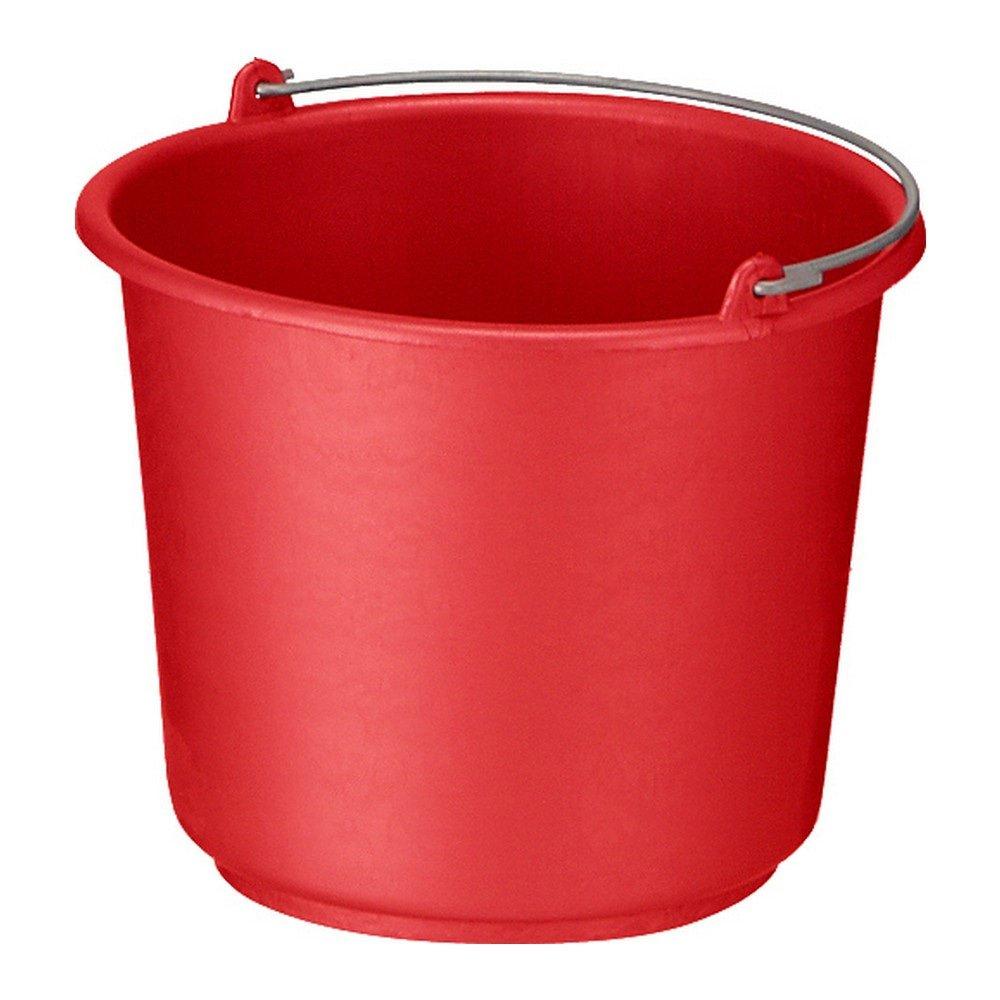 Bouwemmer met hengsel 12 liter rood 12st
