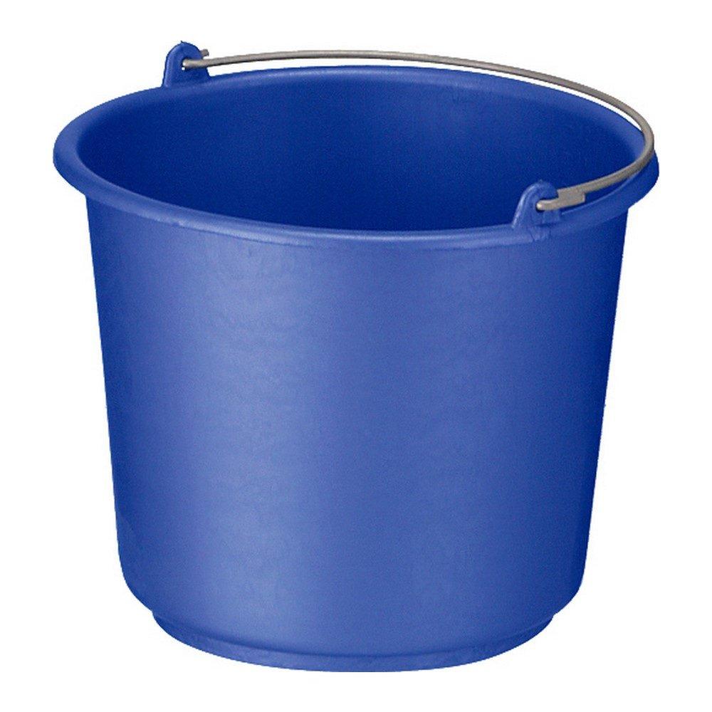 Bouwemmer met hengsel 12 liter blauw 12st