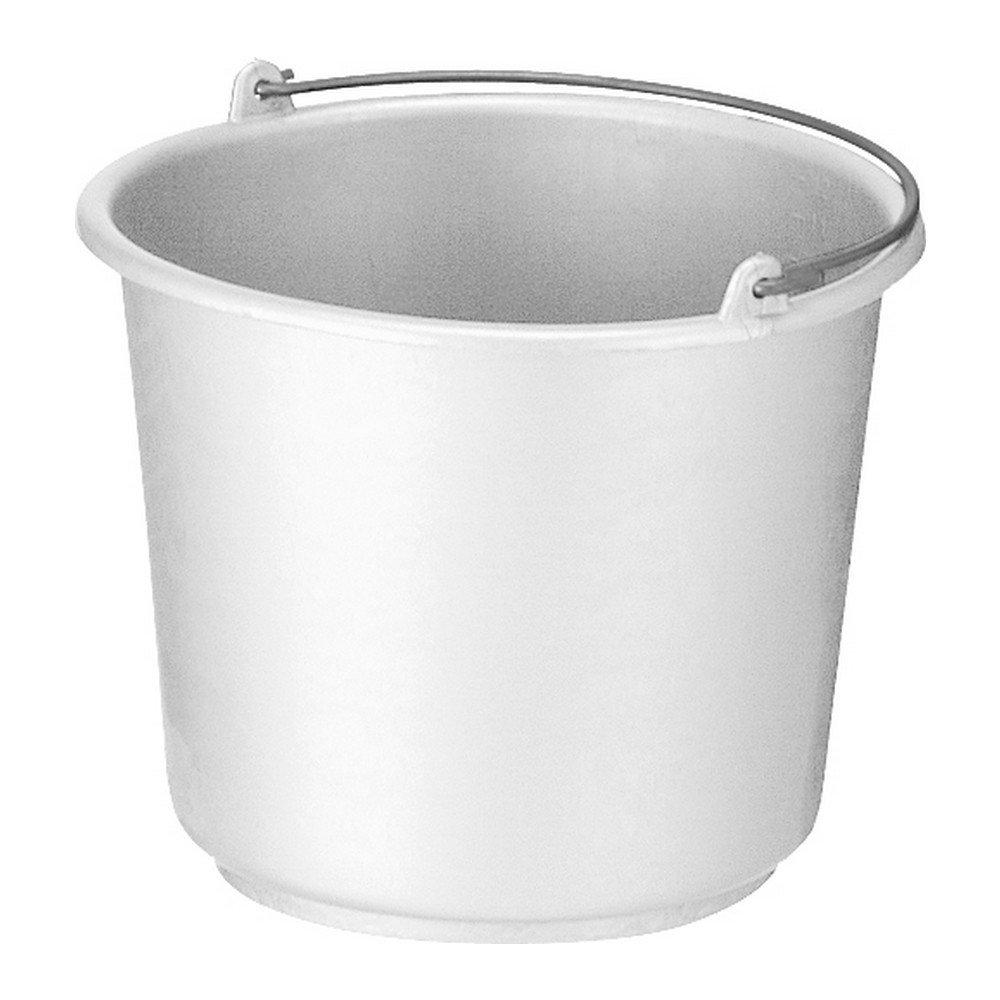 Bouwemmer met hengsel 12 liter wit 12st