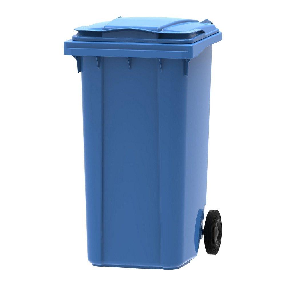 Mini rolcontainer 240 liter blauw