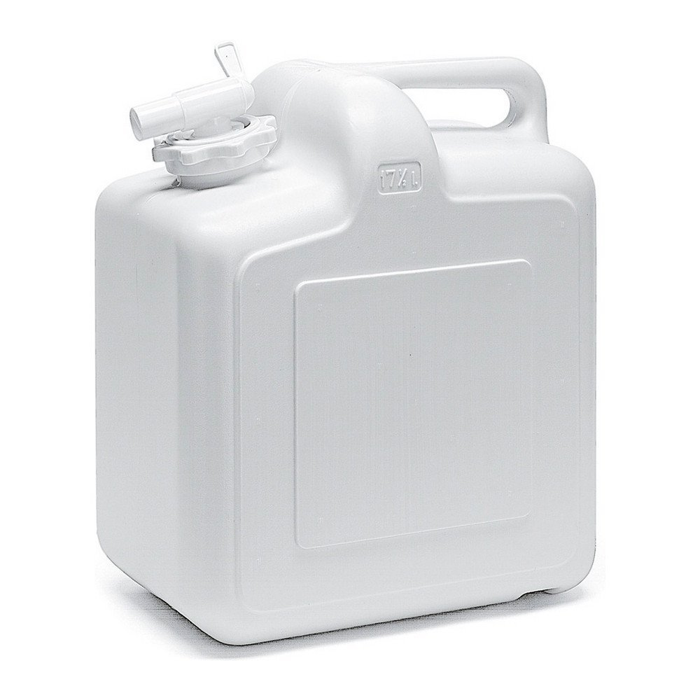 Jerrycan met kraan 17,5ltr wit 4st